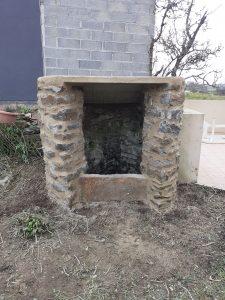rénovation puits en pierre apparentes Pommeret Lamballe