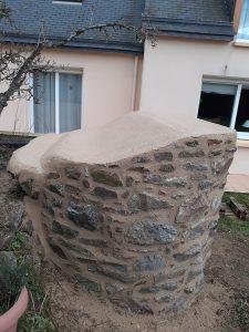 puits en pierre rénovation joint Pommeret Lamballe