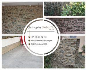 maçon Pommeret quessoy Lamballe rénovation pierre terrasse neuf